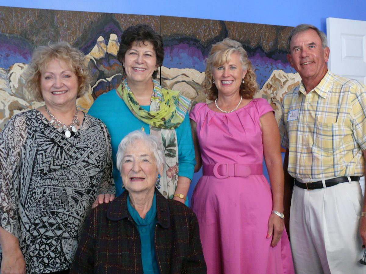 Photo: Pictured left to right: Lynda Ables,  Marilynn Branham, Betty Vernon, Kathleen Maxwell and Paul Urban