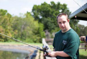 Photo: Man fishing