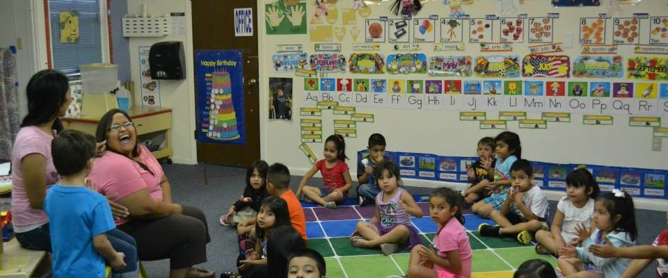 "Photo: Kids in a ""head start"" classroom"