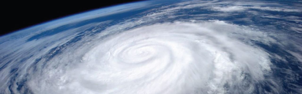 Satellite view of hurricane - BCFS