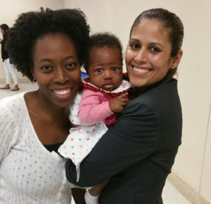 Photo: Teresa Arthur, her child, and Araceli Flores