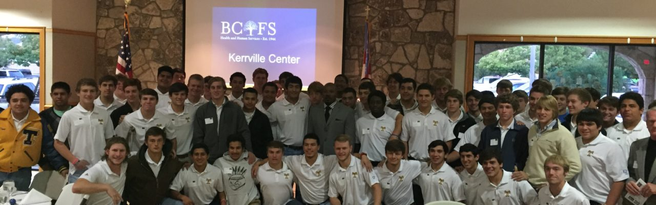 Tivy High School football team @ BCFS breakfast
