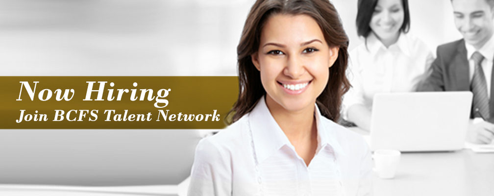 Banner: Now Hiring, joing BCFS Talent Network