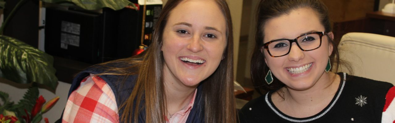 Photo: Social work interns from Abilene Christian University April and Chelsea