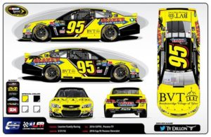 Poster Featuring NASCAR Cup 95 Car with BVT Logos
