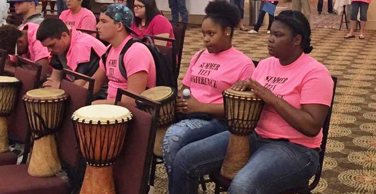 Photo: Drummers at Summer Teen Youth Conference