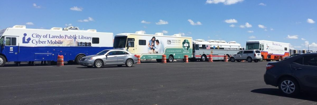 Photo: Buses at Homeless Veterans Event
