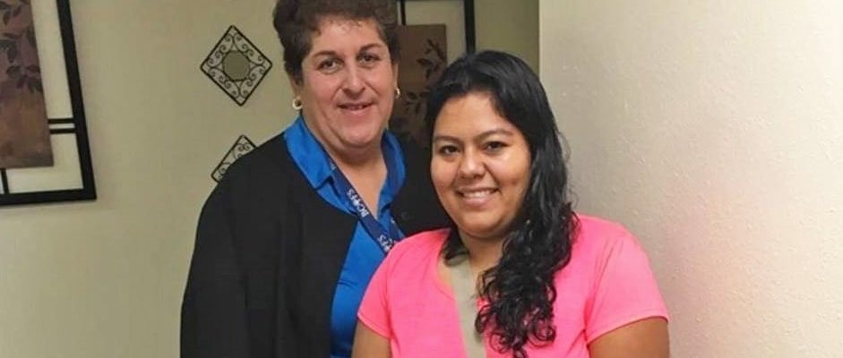 Photo: BCFS Staff Member with a Del Rio Mother