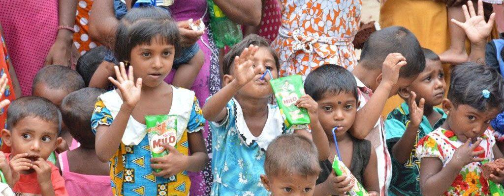 Photo: Group of children in Sri Lanka