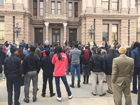 Photo: Foster Care Youth Gather at the Capitol