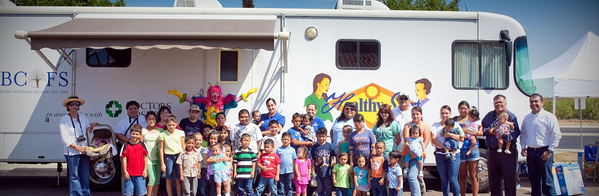 Photo: Healthy Start Participants standing in front of BCFS Healthy Start Truck
