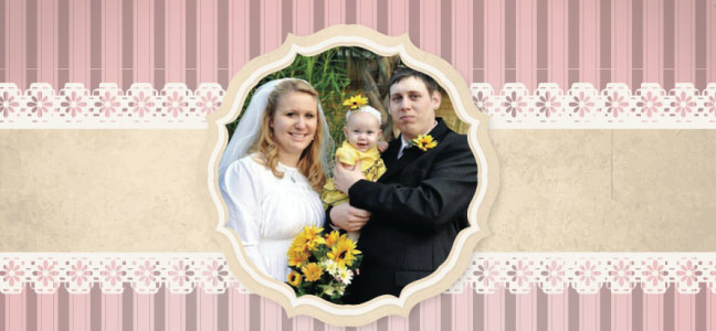 Wedding Photo: Toby Schwerin with his wife and daughter