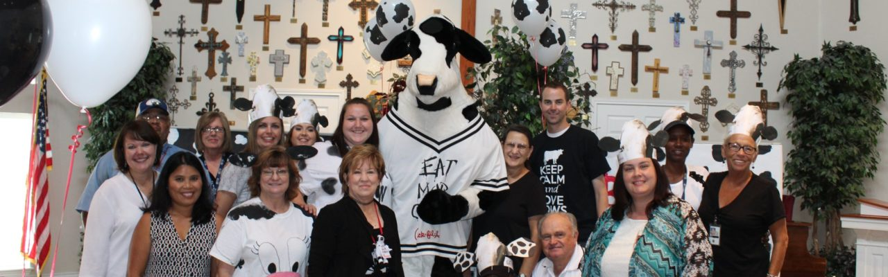 Photo: Cow Appreciation Day residents and day-program participants