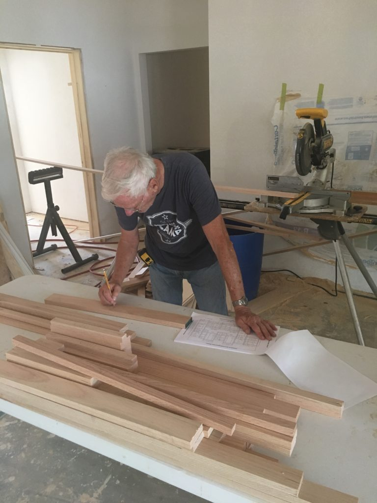 man working on BVT construction