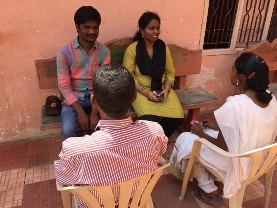 Pictured are SCH's two case managers and the couple going through counseling.